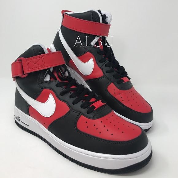 Nike Other - Nike Custom Air Force 1 HI Cody Black White Red M